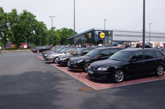 Die Saab Freunde Sachsen unterwegs beim Pfingsttreffen. Bild: SFS
