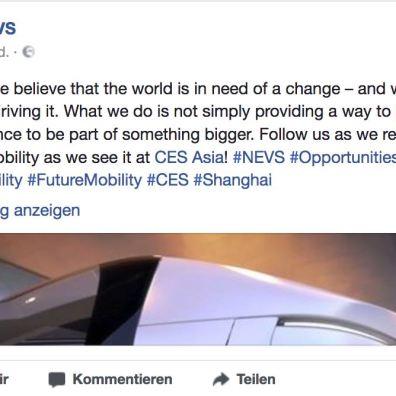 NEVS Teaser Facebook