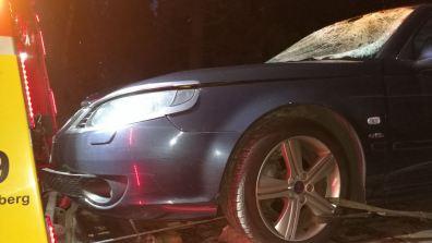 Saab auf dem Abschlepper