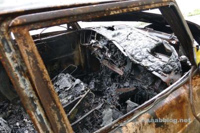 Blick in den komplett zerstörten Innenraum