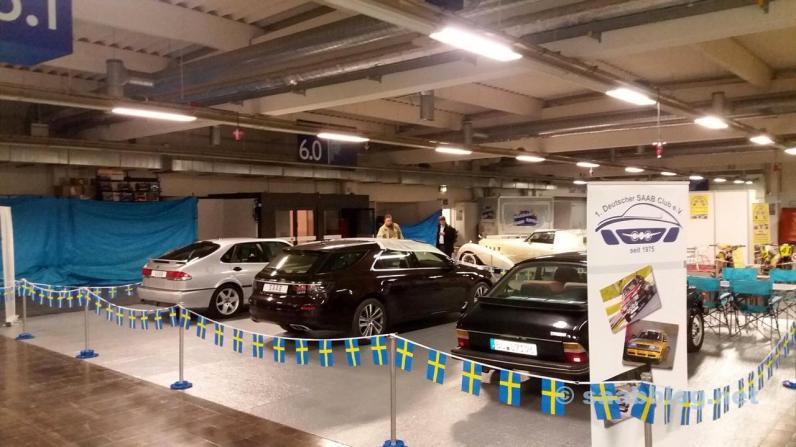 Saab Club står i Essen 2017