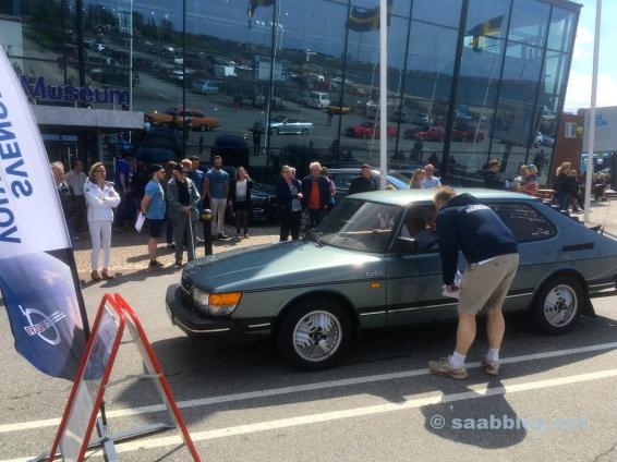 Saab 900 am Start