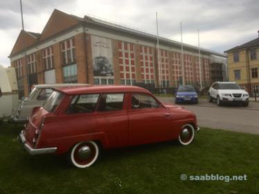 No Museu Saab