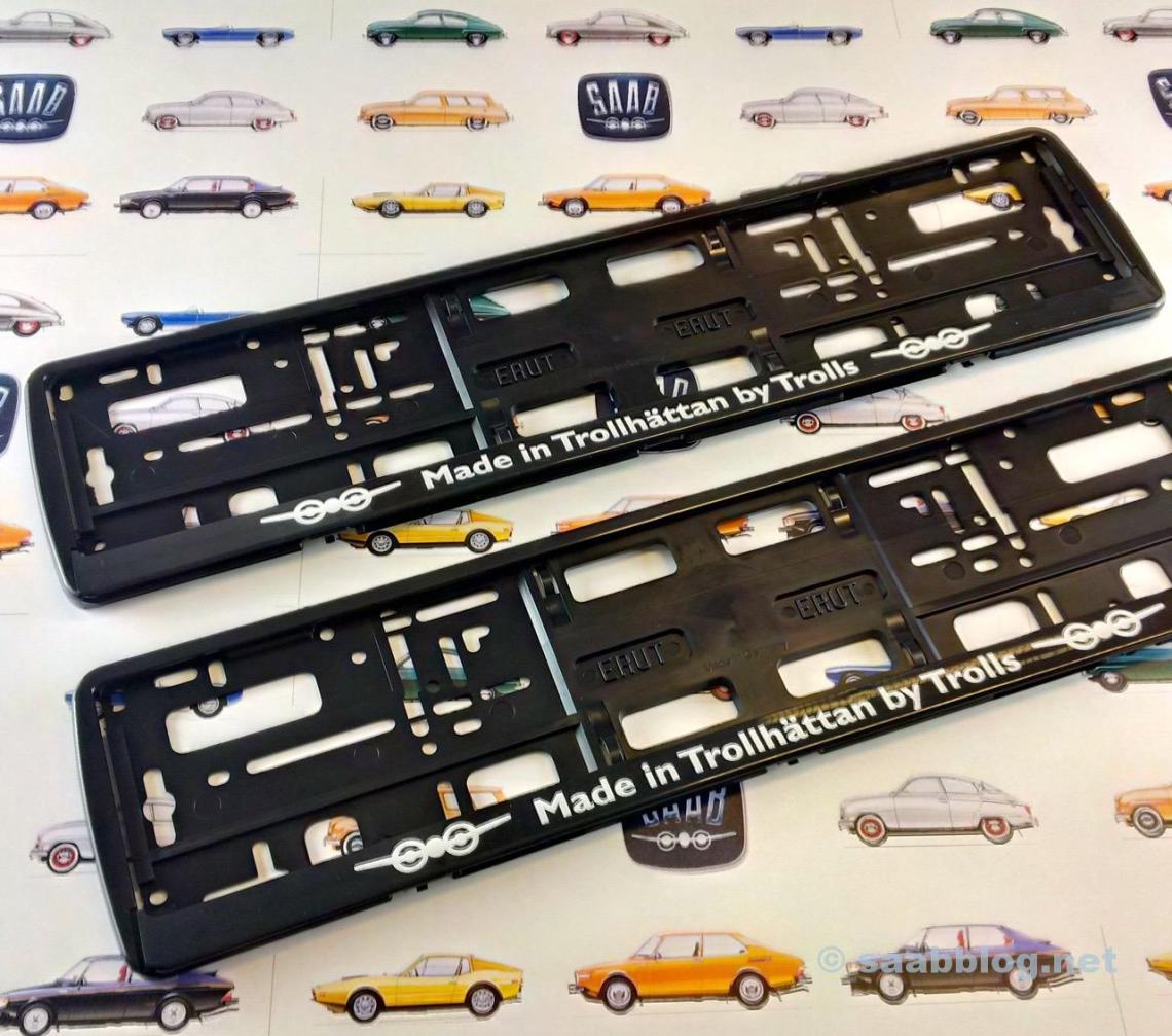 Suporte da placa de licença Saab