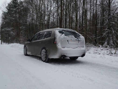 Heiko e seu V6 na neve