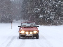 Den klassiska. Saab 99 av Team Wagenheimer.