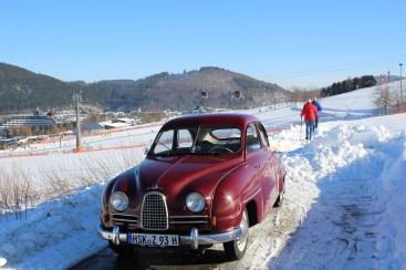 Saab de dois tempos no inverno. O clássico de Christoph