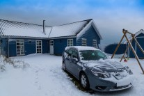 Saab 9-3 in winter. Picture of Daniel