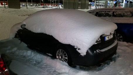 bloccato dalla neve