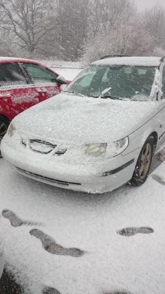 Saab Winterindruk van Sascha