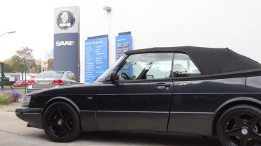 Saab Bredlow in Berlin: Saab 900 Cabriolet.