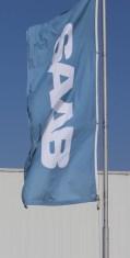 Новые флаги Saab для мастерских.