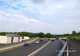 WRX STI approaching, BRZ is leaving the pit lane