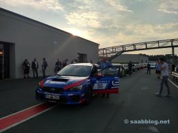Ralf Muckelbauer e WRX STI nella pit lane