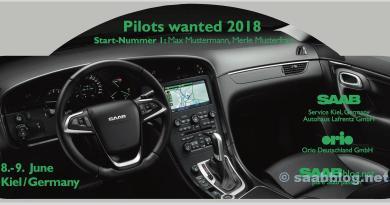 Les pilotes voulaient 2018, Saab Rallye Plate