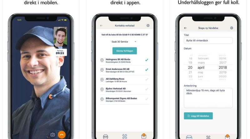 MySaabCar-app van Orio