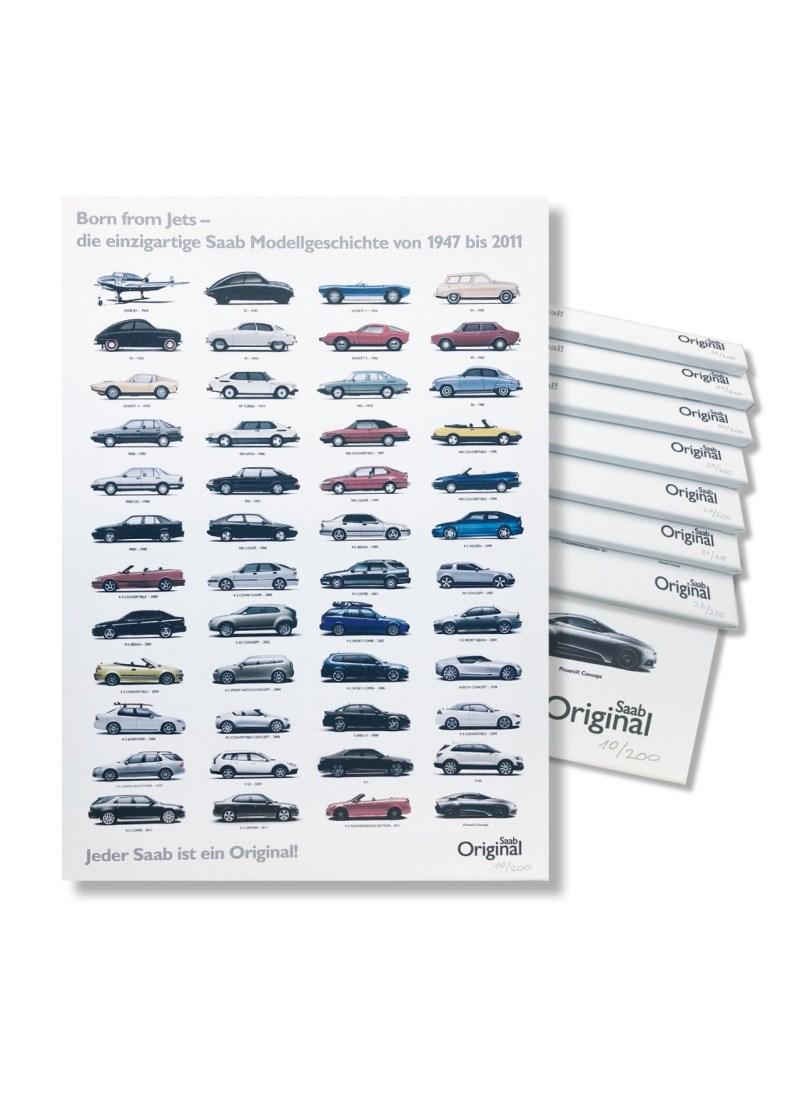 Una mercancía exclusiva de Saab. La historia de Saab como imagen de lienzo.