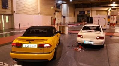 Saab e Subaru no 51. Exposição do motor do alimento