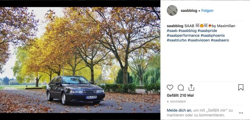 Saab Instagram image Novembre 2018