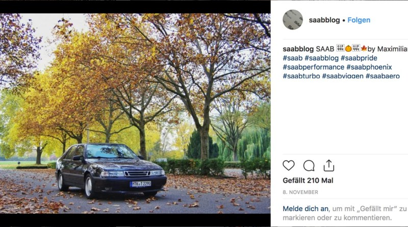 Saab Instagram image November 2018