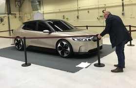 NEVS studie av en elbil sedan