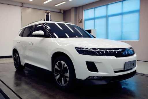 Modelo de som um e-SUV da NEVS (NEVS via Instagram)