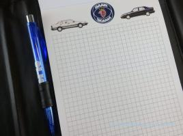 Exklusiver Saab Block: Verschieden Motive wechseln sich ab.