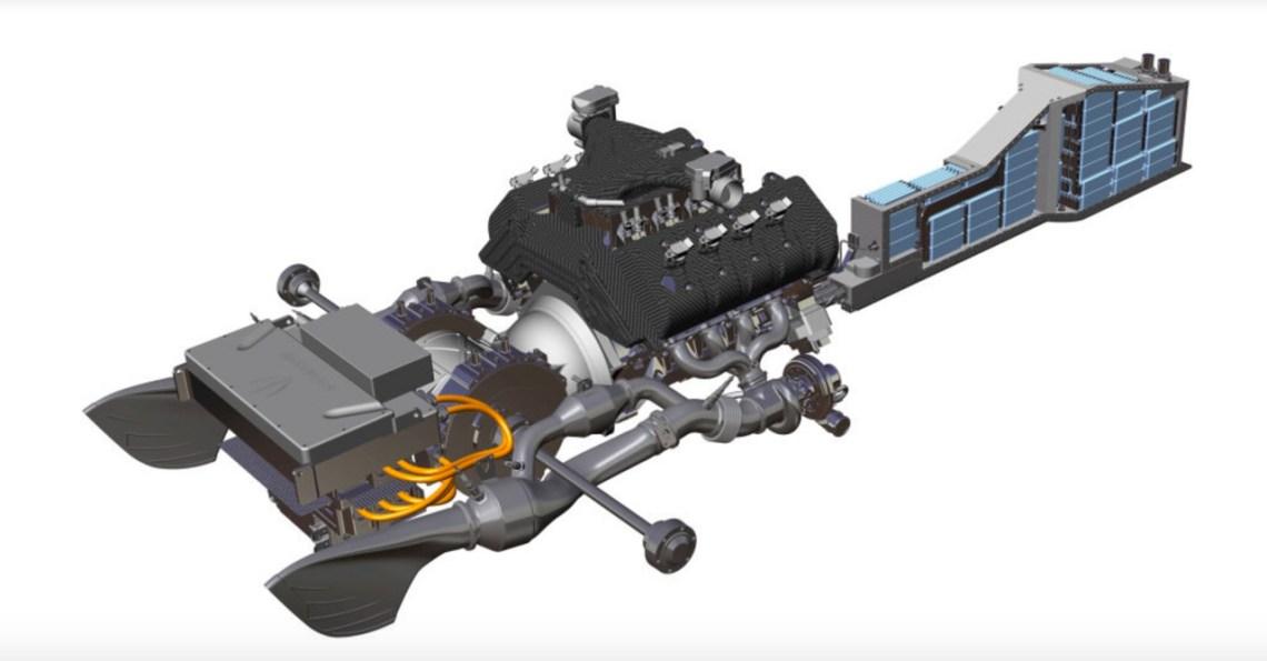 Regera Hybrid Antriebsstrang. Bild: Koenigsegg