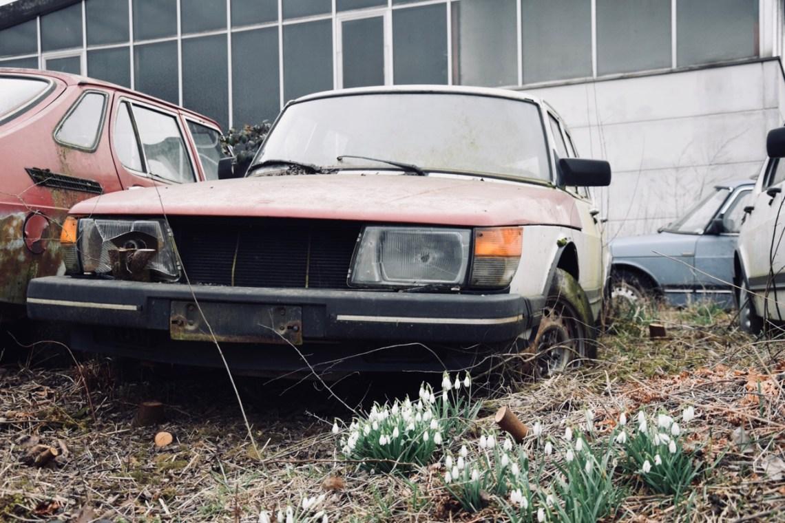 Local de descanso final para um Saab 900?