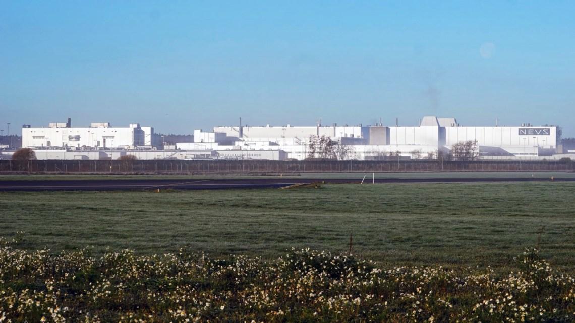 Oude Saab-fabriek in Trollhattan