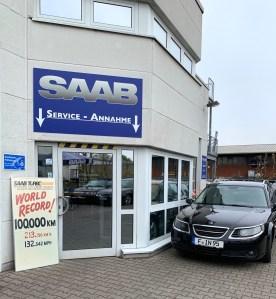 Saab Service Frankfurt - l'acceptation est fermé jusqu'à aujourd'hui.