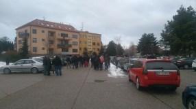 En Saab in de winter!