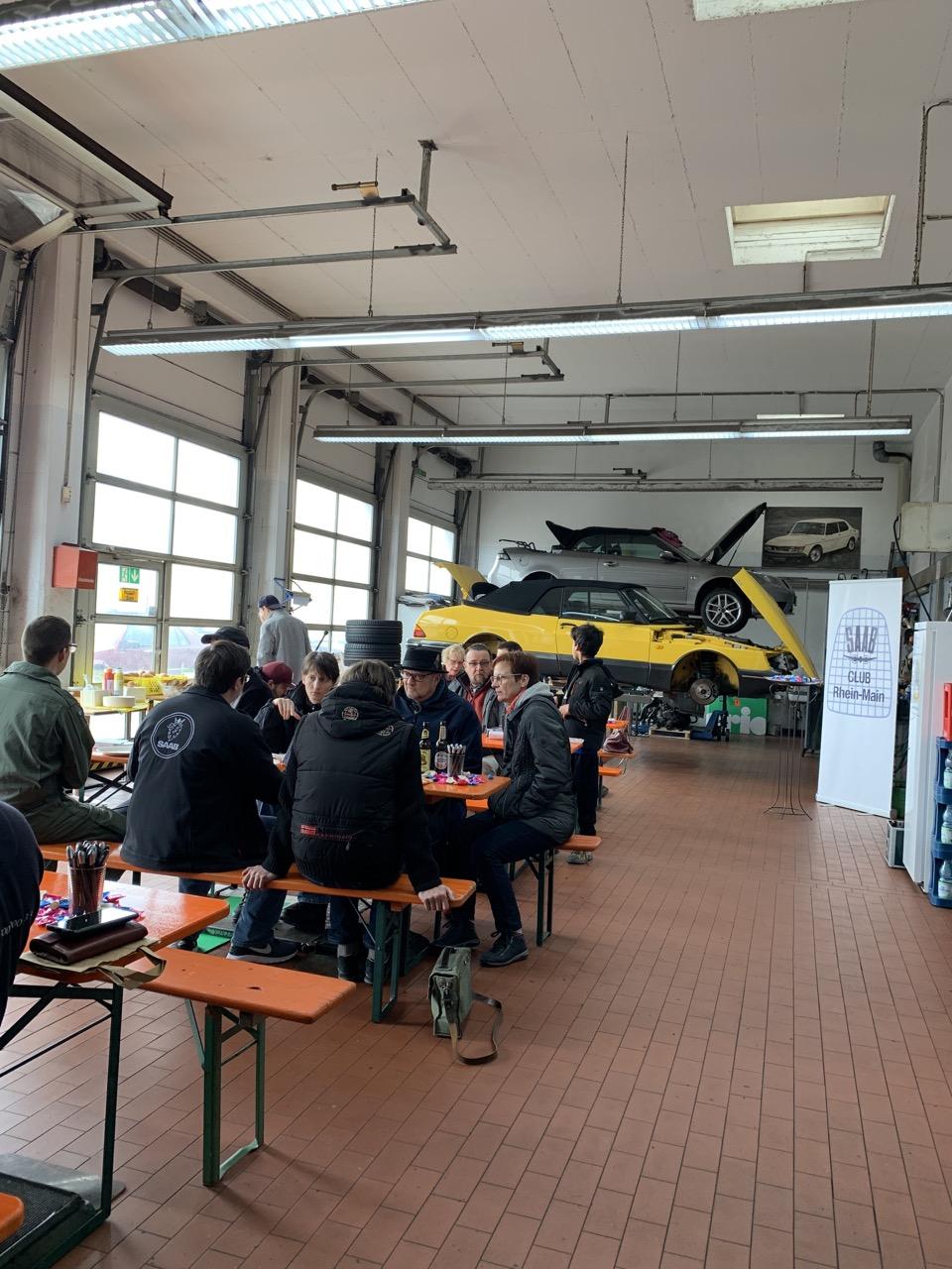 Nog meer gaat Saab amper. Evenement in de workshop