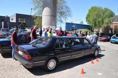 Ex-Saab Direktionslimousine 2018 an der Oldie-Tanke