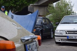 Classics and young cars from Saab met