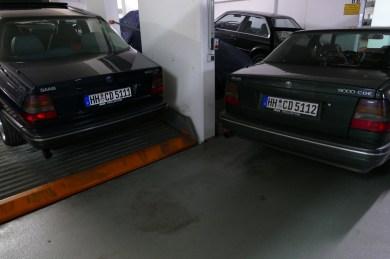 Ceci s'appelle l'attitude appropriée à l'espèce. 2 x 9k CD dans un parking souterrain de Hambourg