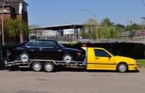 En annan sällsynthet. Saab 9000 bogserad lastbil på mötet 2016