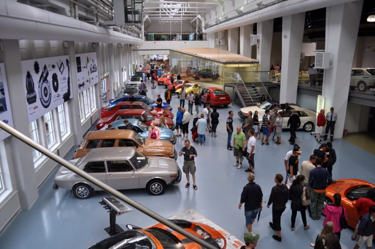 The 2010 festival, with Spyker sports cars in the museum