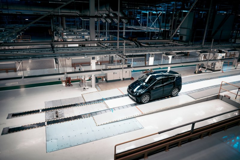Sono Motors Prototyp im früheren Saab Werk in Trollhättan