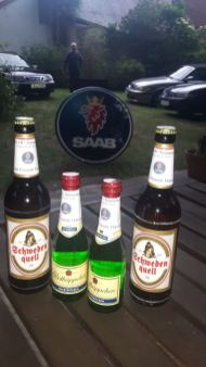 Saab Bier und so... Aber: Don`t drink and drive!