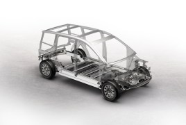 Concepto de marco espacial de aluminio