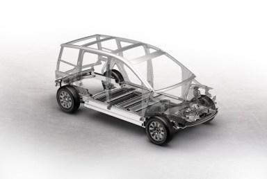 Concetto di telaio spaziale in alluminio