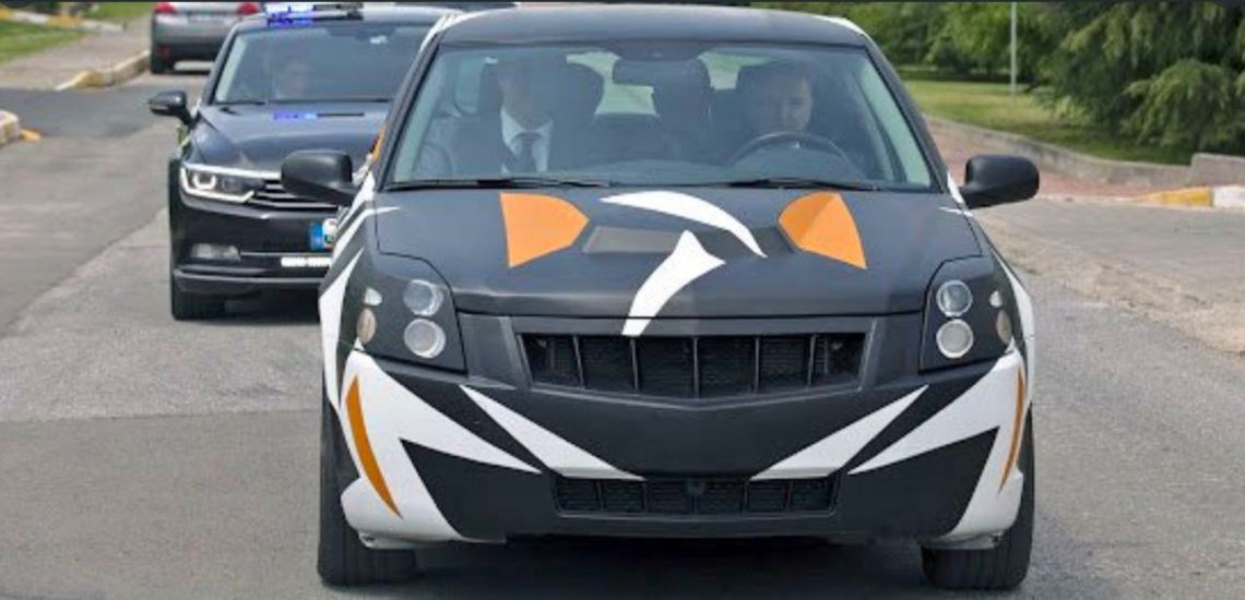 Prototype de la voiture électrique turque sur la base de Saab