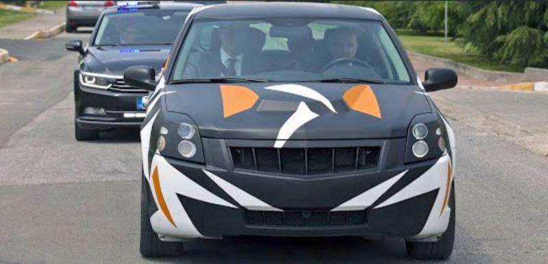 Prototyp des türkischen Elektroautos auf Saab Basis