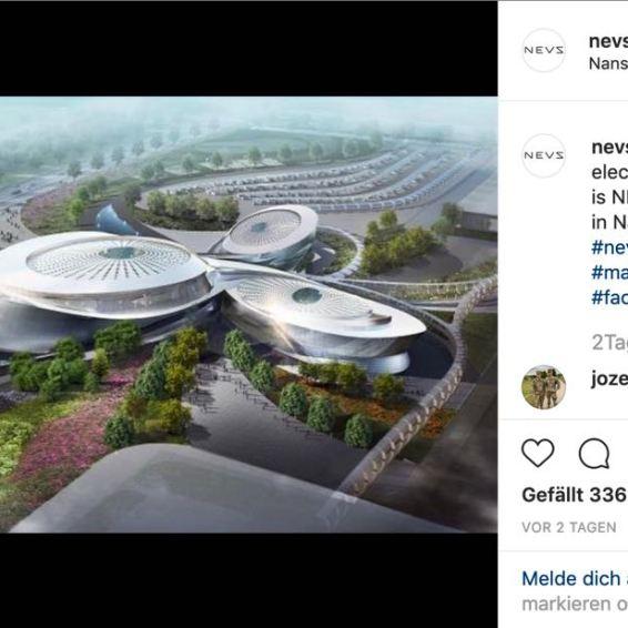 Neues NEVS Evergrande Hengchi Autowerk im organischen Design