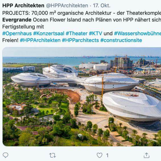 El diseño espectacular es cómo Evergrande construye con los arquitectos de HPP