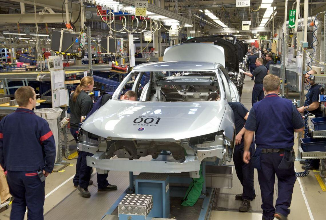 Saab starts production in the Spyker era