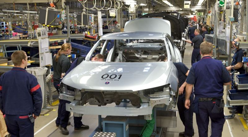 Saab starts production in the Spyker era