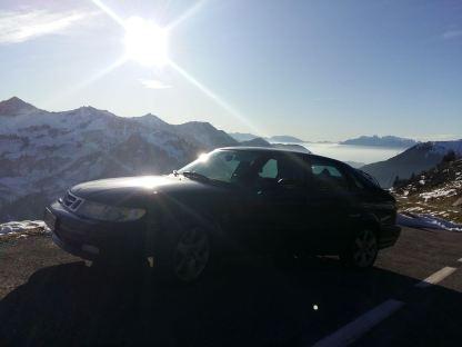 В зимнем пейзаже Saab от Эрика.