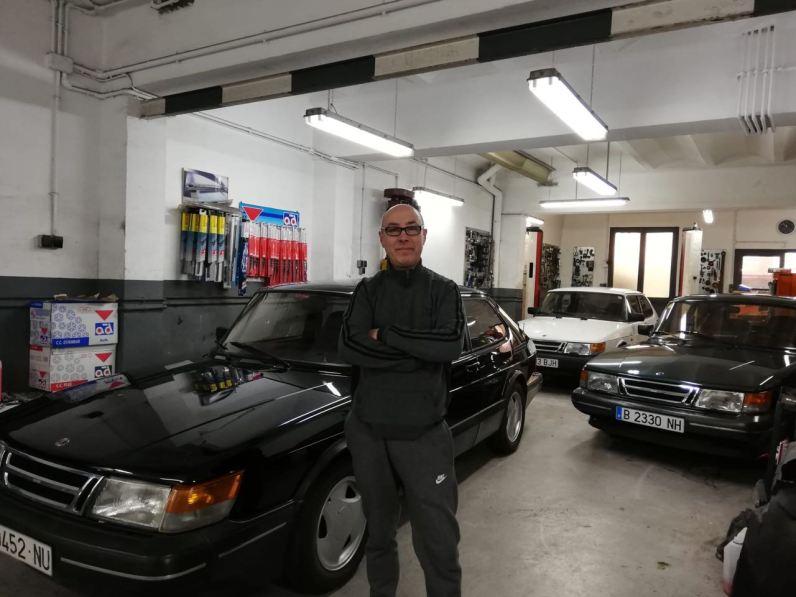 Uno dei due salvatori Saab di Barcellona